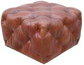 Leather Club Ottoman