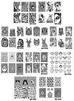 Bundle Monster 10pc Nail Art Manicure Stamping Plates-Fuzzy and Ferocious, Set 1