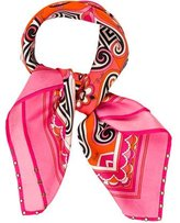 Emilio Pucci Abstract Grommet-Embellished Scarf