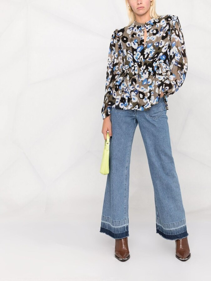 Thumbnail for your product : Lala Berlin Liquid Leo print blouse