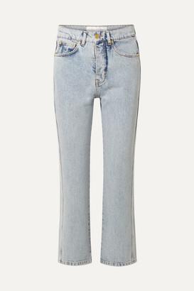 Victoria Victoria Beckham Victoria, Victoria Beckham - Cali High-rise Straight-leg Jeans - Light denim