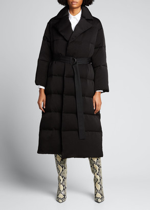 Jason Wu Quilted Crepe Down Long Coat