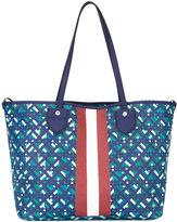 Bally stripe detail tote bag - women - Canvas - One Size