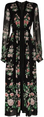 Giambattista Valli Floral Print Maxi Dress