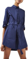 Topshop Women's Belted Shirtdress