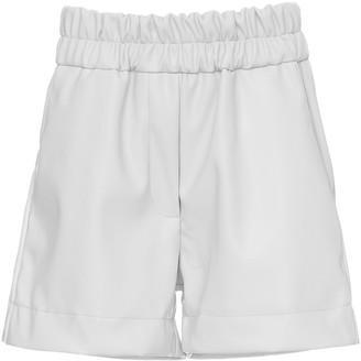 Studio Cut Mini Faux Leather Shorts