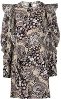 Etoile Isabel Marant Catarina ornate-print ruffle mini dress