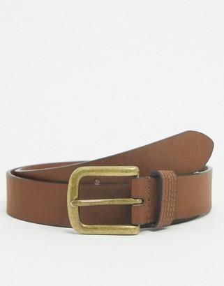 Topman leather belt in tan