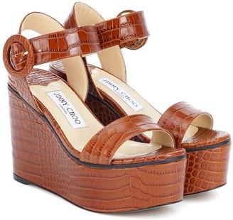 Jimmy Choo Exclusive to Mytheresa a Abigail 100 platform wedge sandals