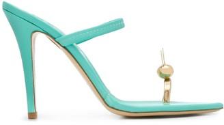 Natasha Zinko Toe Ring Heeled Sandal