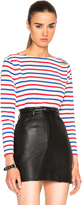 Saint Laurent Distressed Stripe Tee
