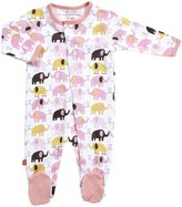 Magnificent Baby Footie - Girl's Elephant-3M
