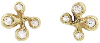 Ten Thousand Things Diamond Pave Molten Cluster Stud Earrings