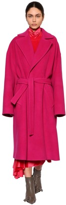 Balenciaga Belted Cloth Wrap Coat