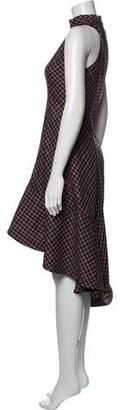 Paper London Plaid Print Midi Length Dress Black Plaid Print Midi Length Dress