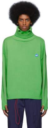 ADER error Green Wool Dumb Turtleneck