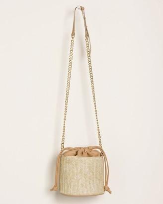 Chico's Faux-Straw Bucket Crossbody Bag