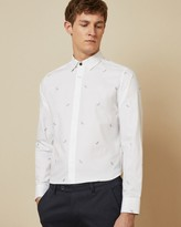 Ted Baker NOWHY Cotton dragonfly printed shirt