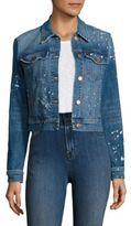 J Brand Harlow Paint Splatter Shrunken Jacket