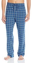 Hanes Men's Printed Knit Pajama Pant, Blue Plaid, Medium