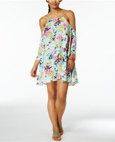 Bar III Tropical Off-The-Shoulder Cover-Up Dress, Only at Macy's