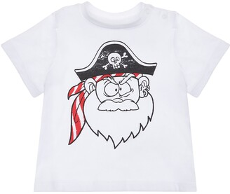 Stella McCartney Kids Pirate Print Organic Cotton T-Shirt