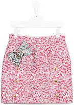 Dolce & Gabbana bow detail skirt - kids - Polyester/Silk/Polyamide/Viscose - 10 yrs