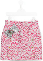Dolce & Gabbana bow detail skirt - kids - Silk/Polyamide/Polyester/Viscose - 10 yrs