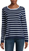 Liz Claiborne Long Sleeve Crew Neck Pullover Sweater-Talls