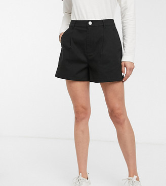Asos DESIGN chino short in black