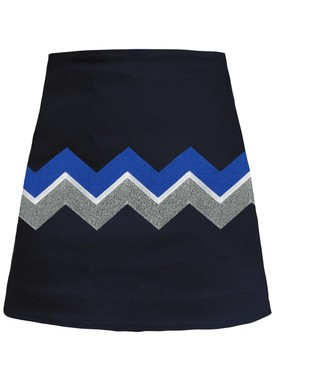 Chevron Embroidered Miniskirt