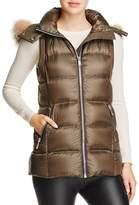 Andrew Marc Claire Fox Fur Trim Down Vest