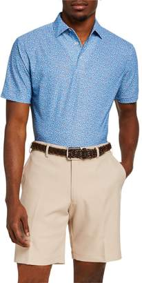 Peter Millar Men's Cathay Swallows-Print Polo Shirt