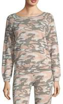 Monrow Camouflage Raglan Sleeve Pullover