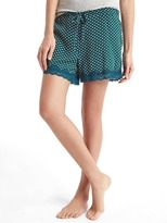 Gap Lace-trim print sleep shorts