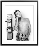 Sonic Editions Clint Eastwood on the Phone (Framed)