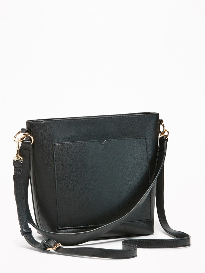 Faux Leather Bucket Bag For Women