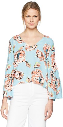 Plenty by Tracy Reese Women's Flounce Sleeve Top