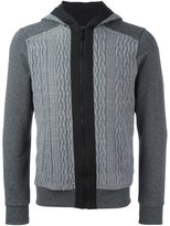 Christian Pellizzari cable knit panel hoodie