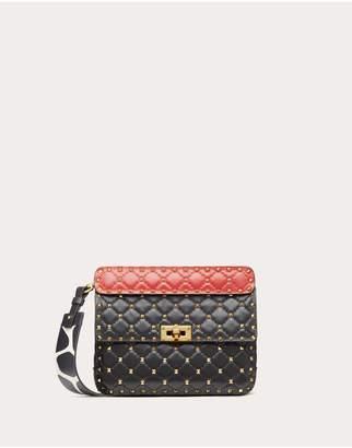 Valentino Garavani Medium Rockstud Spike.It Nappa Bag With Giraffe Print Strap