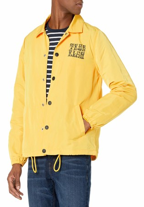 True Religion Men's Psychedelic Coach Long Sleeve Jacket
