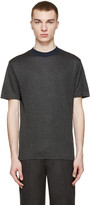 Kolor Grey Contrast Collar T-Shirt