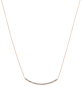 14K Gold & 0.12 Total Ct. White Diamond Bar Necklace