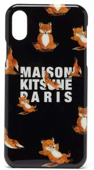 MAISON KITSUNÉ Fox-logo Iphone X Case - Mens - Black