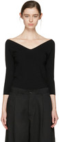 Studio Nicholson Black Off-the-shoulder Pullover