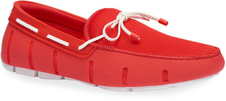 Swims Men's Braided-Lace Mesh/Rubber Driver Loafers