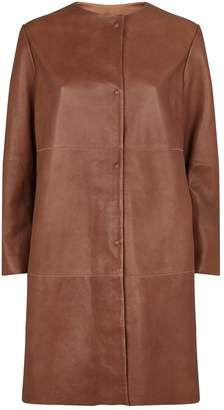 Max Mara Leather Bobbio Coat