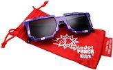 grinderPUNCH KIDS Children's 8-Bit Pixel Retro Novelty Gamer Sunglasses Ages 4+