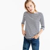 J.Crew Striped boatneck T-shirt with fringe