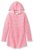 Circo Girls' Stripe Cover Up Dress Extra Pink